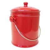Natural Home Cherry Ceramic Compost Bin, 1 Gallon, Cherry
