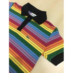 f4f83a4621fb0 Camisa Lacoste Arco Iris - Calçados, Roupas e Bolsas no Mercado ...