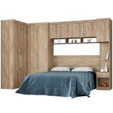 Dormitório De Casal 9 Portas Modena Nogal Touch - Lc Móveis