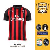 Camisa Milan 2018 2019 Home Uniforme 1 Higuaín Cutrone Suso 77795c6c726c8