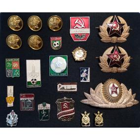 Lote Emblemas, Broches, Pins Da Extinta União Soviética Cccp