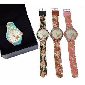 Combo 10 Relógio De Pulso Para Mulher Colorido Florido Lindo