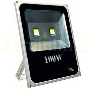 Kit 2 Refletor Led Holofote 100w Bivolt - Branco Frio