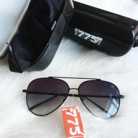 1c399126c1023 Óculos Aviador Preto De Sol 775 Degradê Original!