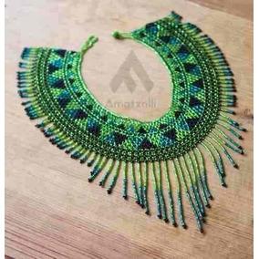 Lote 25 Collares Artesanales Mexicanos Coloridos De Chaquira