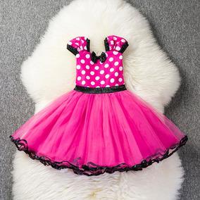 Vestido Infantil Fantasia Festa Minnie