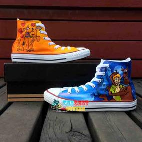 Zapatos Scooby Doo Y Shagy Marca Collec Diseño Hecho A Mano