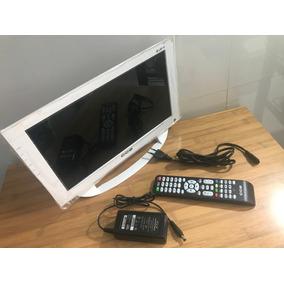 Tv Monitor Led Cce 14 Branca Em Perfeito Estado Ln14gw Usb