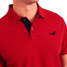 b1402cc22 Camisa Polo Hollister ! - Pólos Manga Curta Masculinas Vermelho em ...