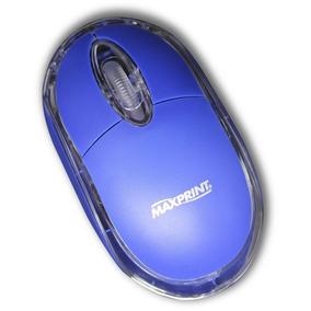 Mouse Ótico Usb Azul Claro Maxprint