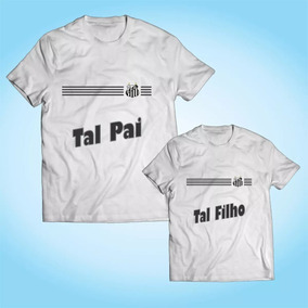 Kit 2 Camisas Tal Pai Tal Filho - Santos - Personalizada 1531d783a9cf4