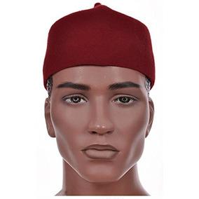 7e06f492527 Oga Faaji Maroon African Igbo Hat Chief Cap Fila African H