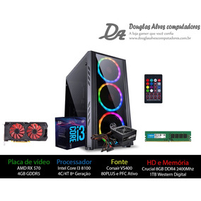 Pc Gamer 4 - Intel I3 8100/rx 570 4gb/8gb Ddr4/1tb/h310m