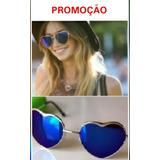 Óculos Espelhado Azul Coração Estiloso Hype 2019 Moda Barato 5a23b68bcd