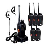 Kit 6 Walktalk Baofeng Rádios Comunicador 777s Nota Fiscal