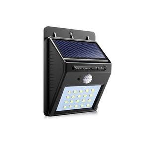 Luminária Solar Parede 20 Led Sensor Movimento Externa