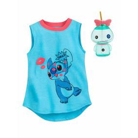 Lilo Y Stitch Scrump Blusa+ Vaso Niña Original Disney Store