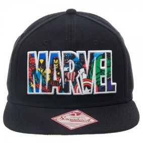 Marvel Comic Collage Gorra Logotipo Bordado Snapback 4356d717cab