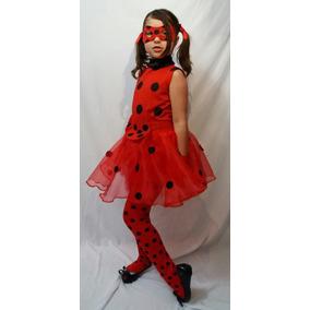 Fantasia Ladybug Miraculous Infantil Verão Completa +luvas