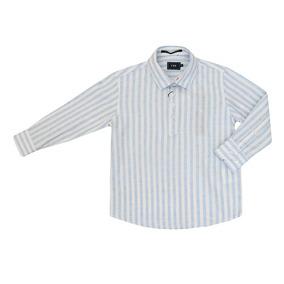 Camisa Bata Infantil Masculino Manga Longa Listrada