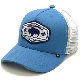 Boné Gringa s Western Wear Azul Turquesa tela Branco Trk-033 30b228c0090