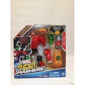 Muñeco Super Hero Mashers- Marvel-red Hulk- Original