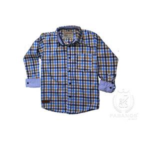 Camisa De Niño A Cuadros Azul