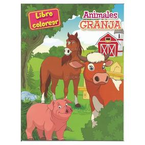 Libros Para Colorear Infantiles Animales De La Granja Fiesta