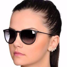 Óculos Sol Feminino Masculino Preto Fosco Redondo Sem Veludo b48f3024e4