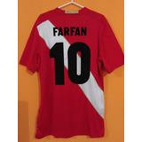 Camiseta De Peru Mundial Rusia 18 Alterna #10 Farfan