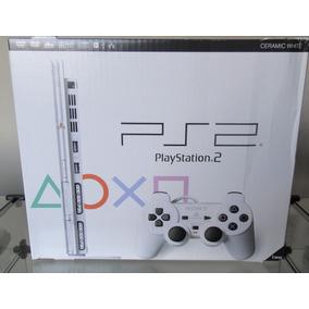 Playstation 2 Ps2 Slim Ceramic White Completo Na Caixa (jp)