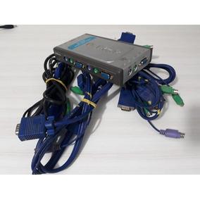 Switch Kvm 4 Portas D-link Dkvm-4k, Saídas D-sub E Ps/2