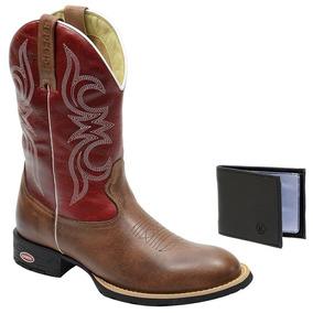 Bota Texana Marrom Country Montaria Classic Couro Legitimo 03291dd5d09