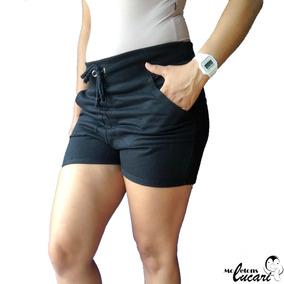 07be463a5 Moleton China Feminino - Shorts Preto em Goiás no Mercado Livre Brasil