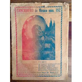 Antiguo Cancionero De México Jorge Negrete Año 1953