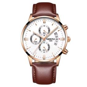 bb776fad6b6 Relógio Nibosi Original Masculino Funcional Promoção