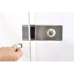 Trava De Segurança P/ Porta De Vidro (giro) Auto-blocável