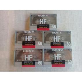Lote 5 Fitas Cassete Sony Hf-60 Minutos Novas E Lacradas