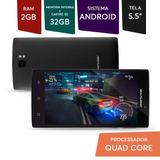 Smartphone Memória 16gb Android Tela 5,5 Dual Preto