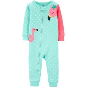 Macacão Pijama Carters Menina Flamingo 12 E 24m 16420316