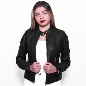 Jaqueta Feminina De Couro Ecológico Forrada