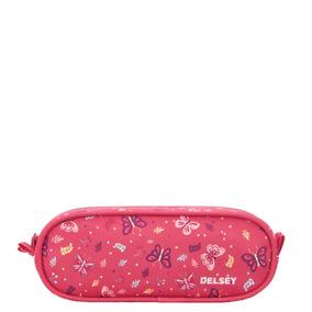 Cartuchera Escolar Con Doble Cierre Delsey (rosa Butterfly)