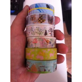 Kit 10 Washi Tape Estampadas Animais - Fita Adesiva Decotape