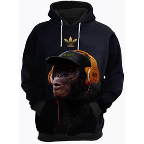 Blusa De Frio Moletom adidas Macaco Música 598d98374777e
