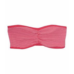 Aeropostale Stretch Striped Bandeau Bra 9294 Pink Talla Xxs