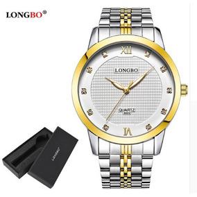 Relógio Feminino Fashion Girl Dourado Longbo 3 Modelos
