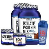 2x Isolate Protein Mix + Bcaa + Creatina + Shaker - Profit