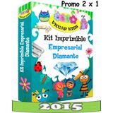 Mega Kit Imprimible Empresarial Doble Diamante Todo En Uno.