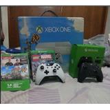 Xbox One Blanco Con 2 Controles Y 7 Juegos