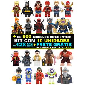 Kit 10 Bonecos Super Herois Marvel Star Wars Ninjago